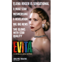 Evita Head Shot Adelphi Theatre